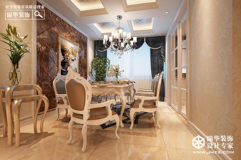 正荣润江城f户型135平米-装修设计方案-南京锦华装饰