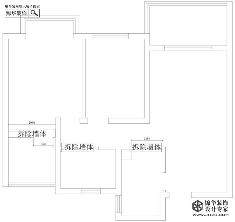 莱蒙水榭阳光88平米户型解析-装修设计方案-南京锦华