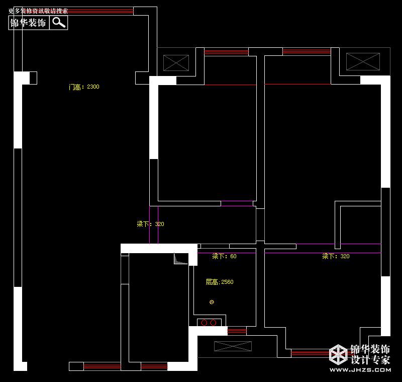 touch铭欣女装效果图-中天铭廷B户型95平米户型解析 装修设计方案
