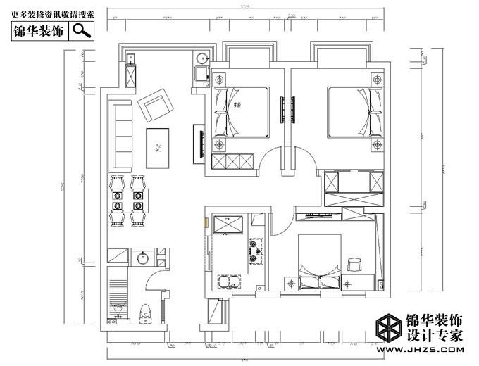 世茂君望墅b9户型102平米户型解析-装修设计方案-南京