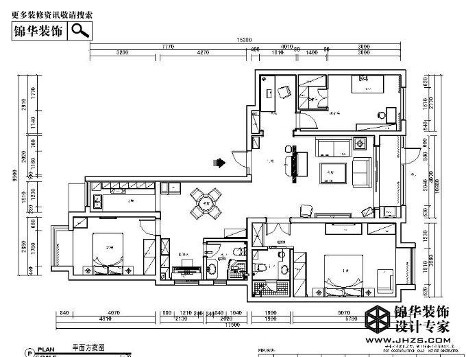 京门府140平米 户型