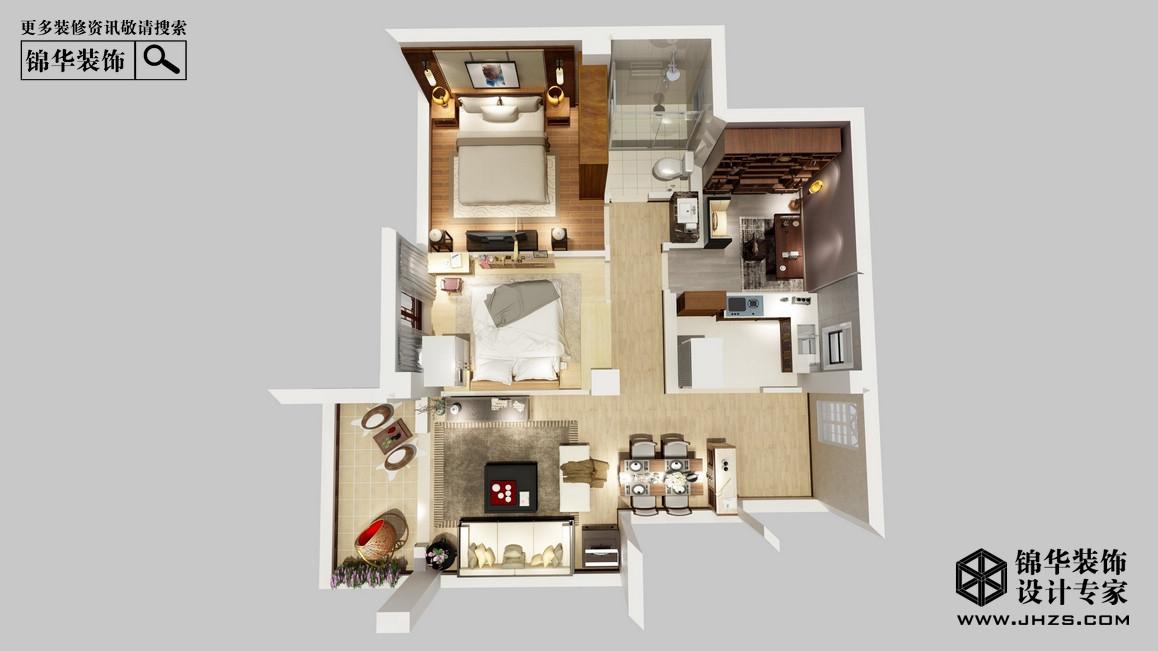 紫金华府89平米 新中式户型解析-装修设计方案-南京