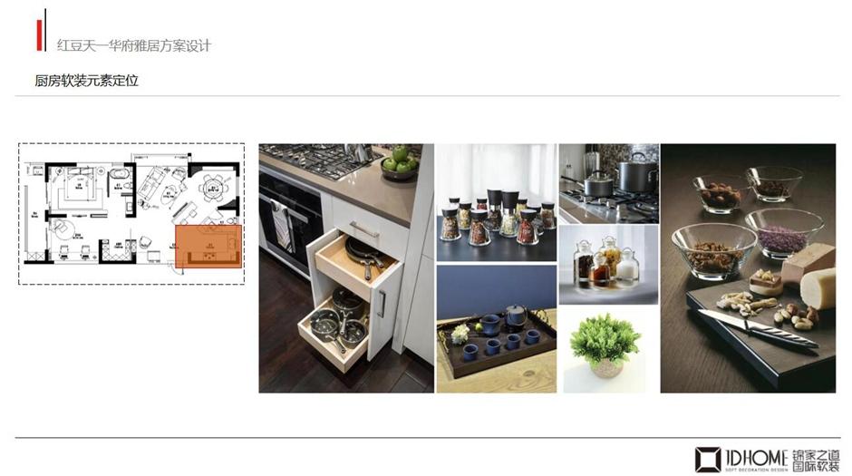 厨房软装元素定位
